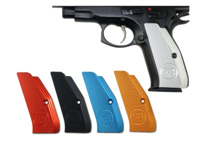 CZ Low Profile Grips, Silver anodized Aluminum