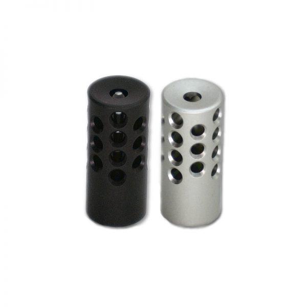 KIDD 22 Muzzle Brake Aluminium Silver Black Matte